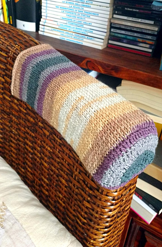 Custom Sofa Arm Covers Knitted Chair, Leather Furniture Arm Protectors