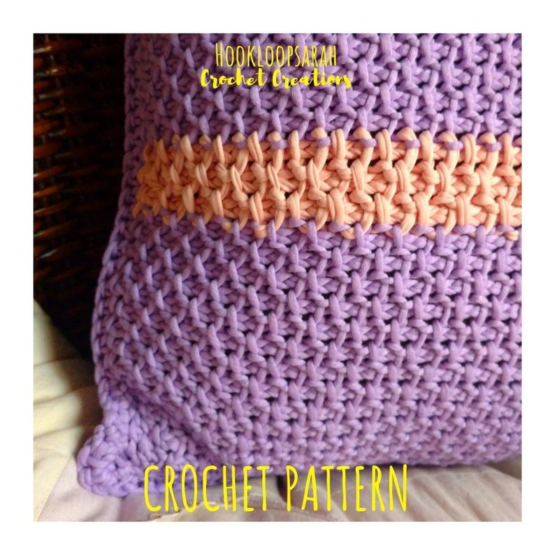 Tunisian Crochet Pattern Pillowcase In Honeycomb Stitch Etsy