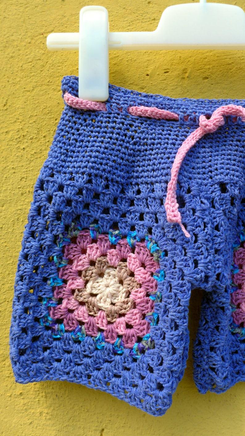 Short Bikini Uncinetto Con Piastrelle Granny Per Bimba Etsy
