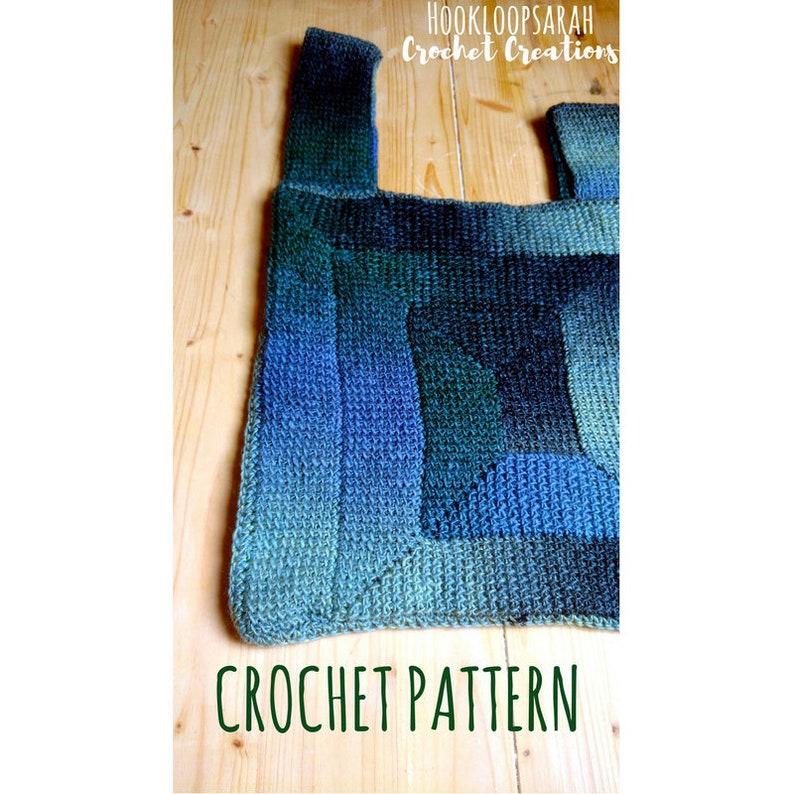 Tunisian Crochet Bag Pattern Japanese Knot Ten Stitch Etsy