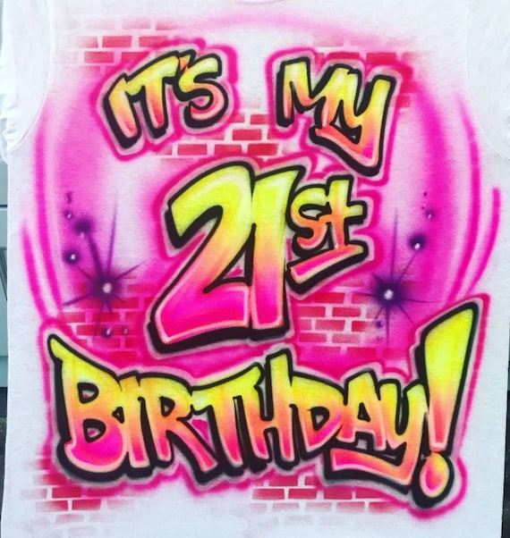 Airbrush Happy Birthday Shirt