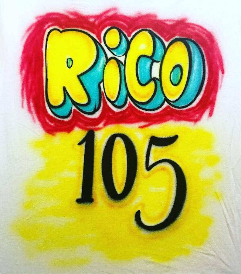 d4503d2d7eebd2 Airbrush Paid In Full Rico Shirt Design Free Shipping