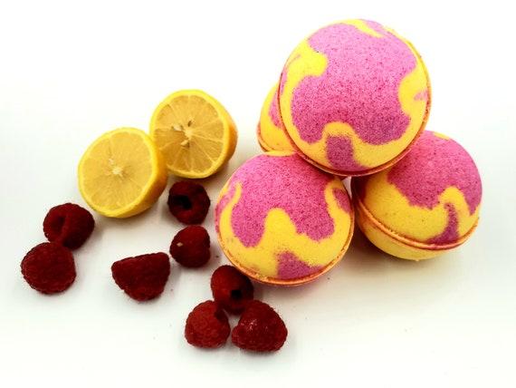 Raspberry Lemonade Bath Bomb / Moisturizing Bath Bomb / Bath | Etsy