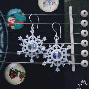 FREE UK Delivery! Choose one! Secret Santa Christmas Tree Crystal Handmade Beaded Earrings Chritmas Jewelry in More Patterns