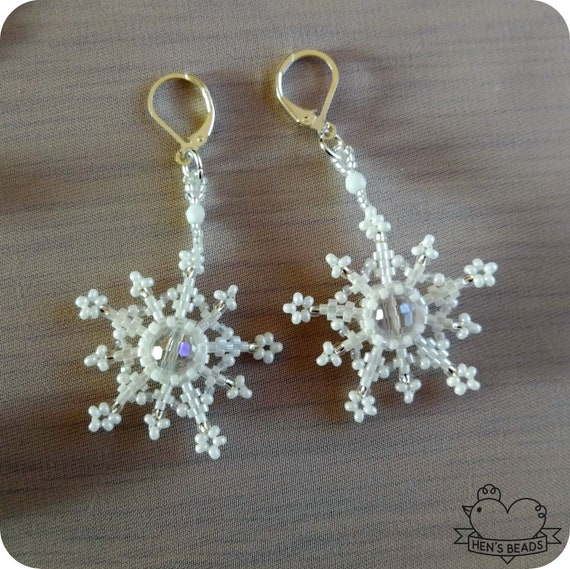 Frosty the Snowman Handmade Beaded Earrings Christmas Jewelry Secret Santa FREE UK Delivery!