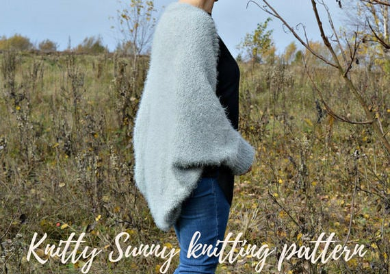 Diy Knitting Pattern For Oversized Cocoon Cardigan With Kimono Etsy