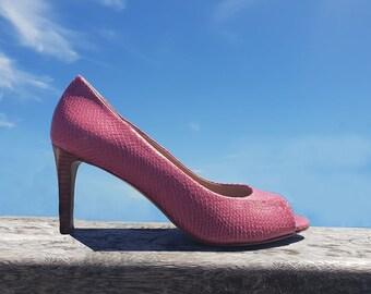 f310ad394b226 Beige open toe pump Handmade in Italy Designed in Paris | Etsy