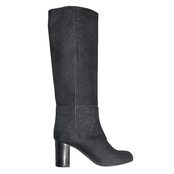 noirbottes cuir façon cuir noirbottes cuir cmBottes Italie noirbotte haute 6 femme jeans talon Bottes q5AjL3R4