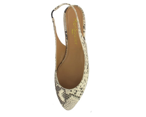 leather pointy ballerina flat flats python women flats white Ballet toe Women Leather Leather Off slingback pointy flats pointed xw0HTnOq
