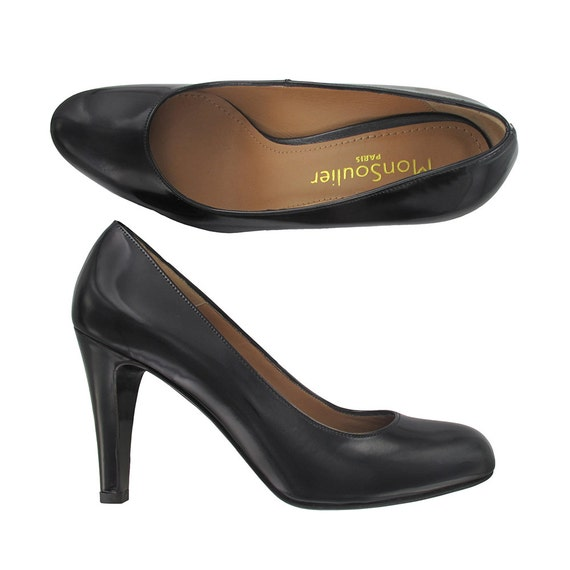 in Italy leather leather Black Oli Black Classic Women shoes black patent pump in Paris pump shoes pump pumps Handmade Designed P6IxId1