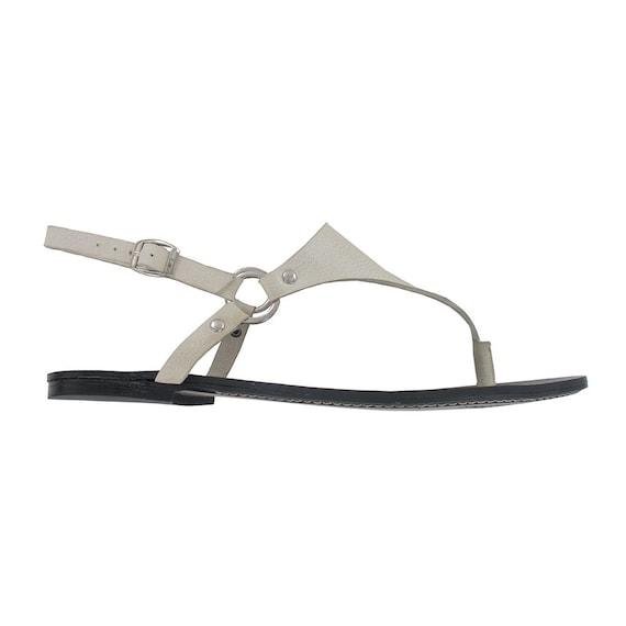leather sandal sandals leather sandal white flat strap flat flats sandal greek white flat t white gladiator White white 7SIqS