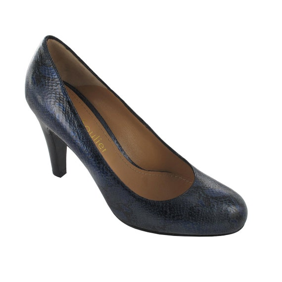 Paris patent stiletto Classic shoe pump leather Blue Blue shoes leather Navy patent pumps pump leather shoes Italy leather Blue Oli tgRAZwqx