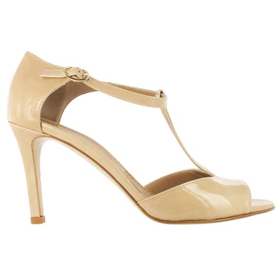 blush open toe shoes