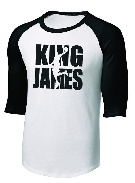 pretty nice dbf08 95e7f New Men's or Youth Lebron KING JAMES 3/4 Sleeve T-Shirt Tee Cleveland  Cavaliers