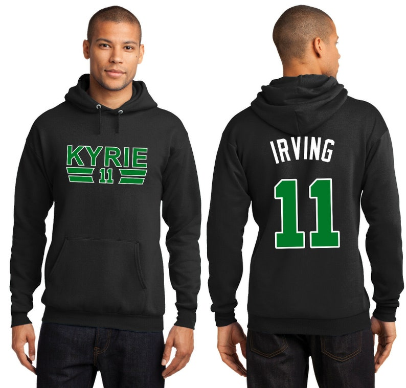 new arrival d5399 a343f New Kyrie Irving 11 Boston Celtics Hoodie Hooded Sweatshirt Jersey