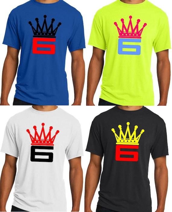 buy online 04f6b 4d76d New Mens Crown 6 T-shirt Lebron James King Cleveland Cavs NBA S M L XL 2XL  3XL