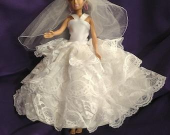 Barbie Wedding Dress.Barbie Wedding Dress Etsy