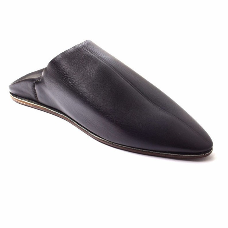 22a720d0a5474 Moroccan Men's Slippers / Solid Leather Slippers / Men image 0 ...