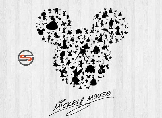 Mickey Mouse Ears SVG, Disney Castle svg, Magic Kingdom, Cinderella, Disney Silhouette Clipart, DXF, Cut files, Instant Download from SearchSavvyClipArt on ...