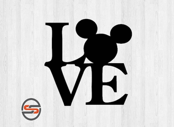 Love Disney SVG, Mickey Mouse Ears, Silhouette Digital Clip Art, Cricut, DXF, PNG, Mickey Mouse svg cut files, Instant Download from SearchSavvyClipArt on ...