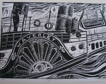 Clyde Steamer.  Waverly