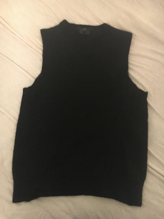Gucci Cashmere black tank shirt