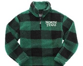 North Texas Sherpa Quarter Zip Pullover, North Texas Sherpa Sweatshirt, North Texas Sherpa Pullover, North Texas Outerwear, UNT Gift