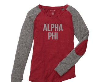 d4e0044b24c Items similar to Custom Sorority Letter Shirt Long Sleeve Tee with ...