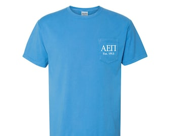 AEPI Large Crest Shirt Alpha Epsilon Pi Comfort Colors T-Shirt