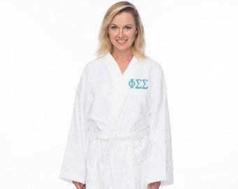 Phi Sigma Sigma Terry Bath Robe 067f5fc00