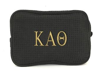 1d7defc308 Kappa Alpha Theta Waffle Weave Cosmetic Bag