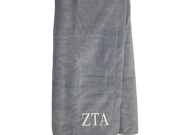Alpha Omicron Pi Terry Velour cover up AOPi Velour Terry Cover Up Alpha Omicron Pi Terry Velour Towel Wrap Sorority Letter Shower Wrap