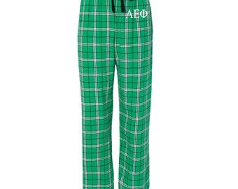 Alpha Xi Delta Flannel Pants, A Xi D Loungewear, Sorority Greek Apparel, Sorority Clothing, Sorority Letters, Officially Licensed Product
