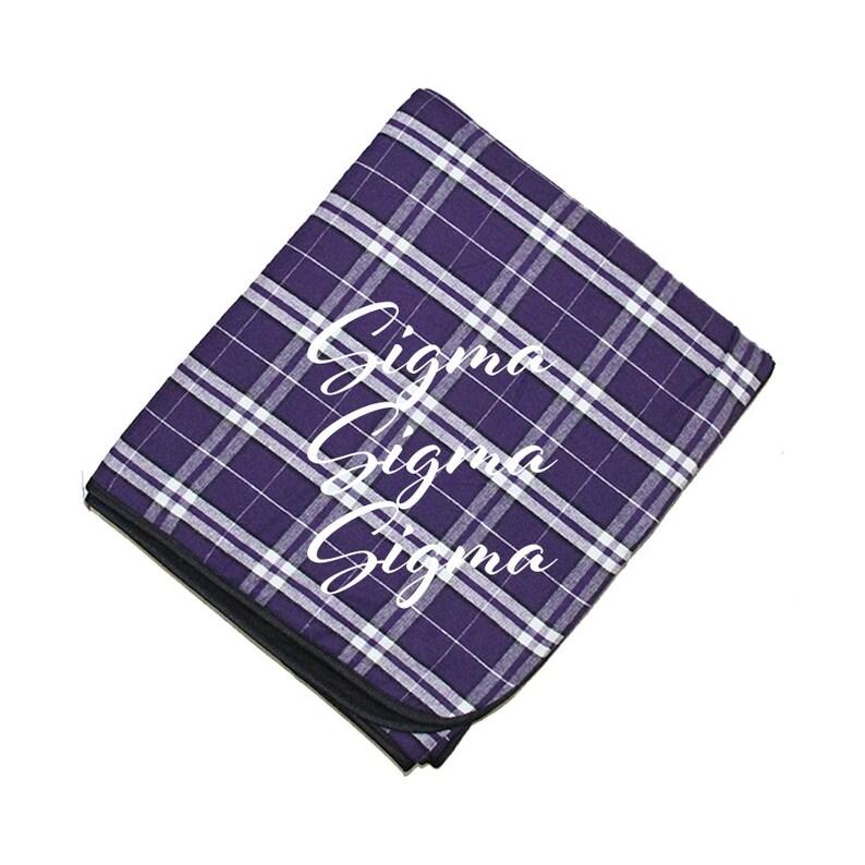 Tri Sig Throw Phi Sigma Sorority Throw Sigma Sigma Sigma Fleece throw Phi Sigma Sigma little reveal Sigma Sigma Sigma flannel blanket