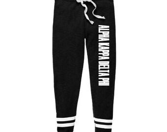 Alpha Kappa Delta Phi Thermal Joggers, Alpha Kappa Delta Phi Sweatpants, AKDPhi Apparel, AKDPhiJogging Pants, Sorority Joggers