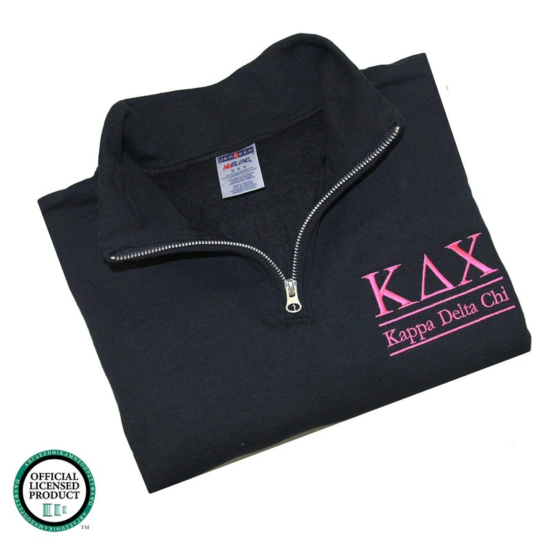 ce2dd182cd Kappa Delta Chi Quarter Zip Pullover KDChi cadet sweatshirt | Etsy
