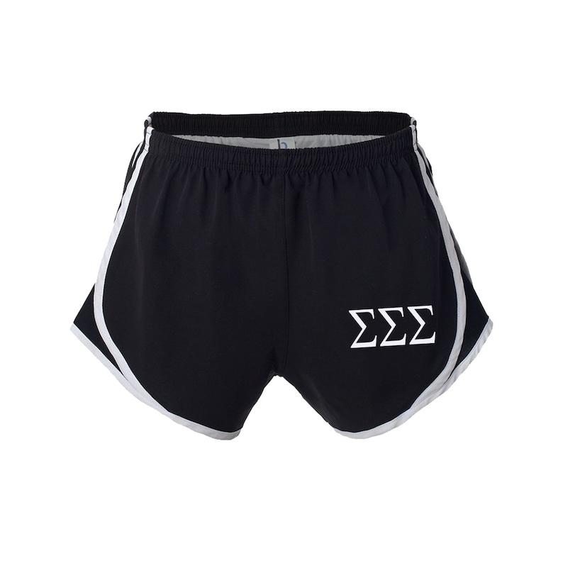 Sigma Sigma Sigma Shorts Tri Sigma practice shorts SSS velocity shorts Sigma Sigma Sigma Apparel SSS Running Shorts TriSig Shorts