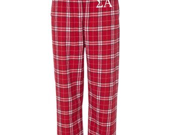 Tau Beta Sigma Flannel Pants,Tau Beta Sigma Loungewear, TBS Sorority Letter Flannel Pants, Greek Apparel, TBS Pajama Pants