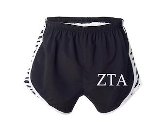 Zeta Tau Alpha Shorts, ZTA Shorts, ZTA Apparel, Zeta Running Shorts, Zeta Tau Alpha velocity shorts, Zeta Tau Alpha practice short