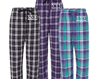 Sigma Alpha Epsilon Flannel Pants, SAE Loungewear, Fraternity Letter Flannel Pants, Greek Apparel, SAE Pajamas, Officially Licensed
