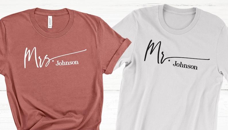 Honeymooning Shirt Last Name Custom,Honeymoon shirts Couples Shirts Mr Honeymooning Honeymoon Shirt Unisex Short Sleeve T-Shirt, Mrs