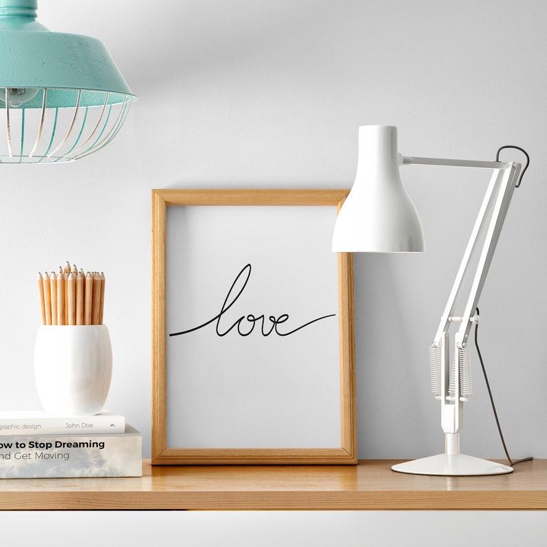Love lamina decorativa Poster decoración dormitorio Love  234bb717affe8