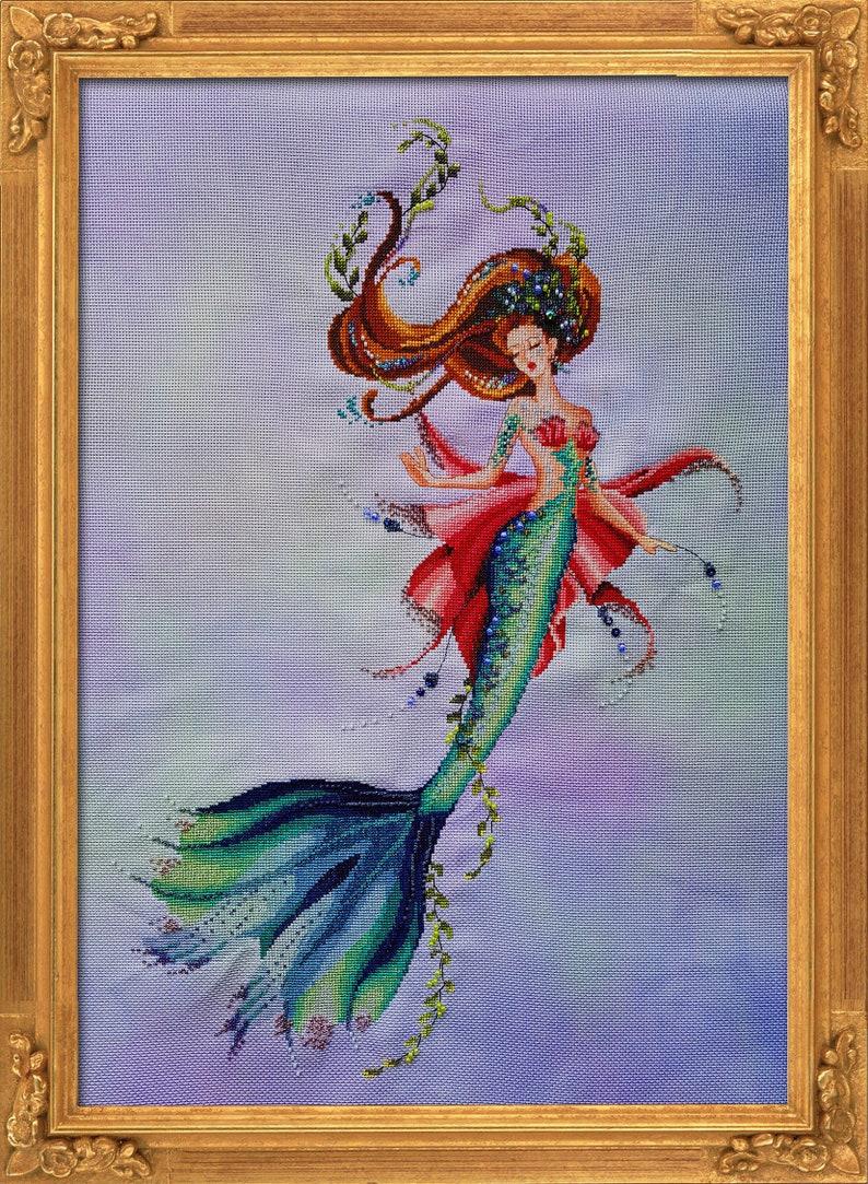 Bella Filipina Cross Stitch pattern Aquamarina