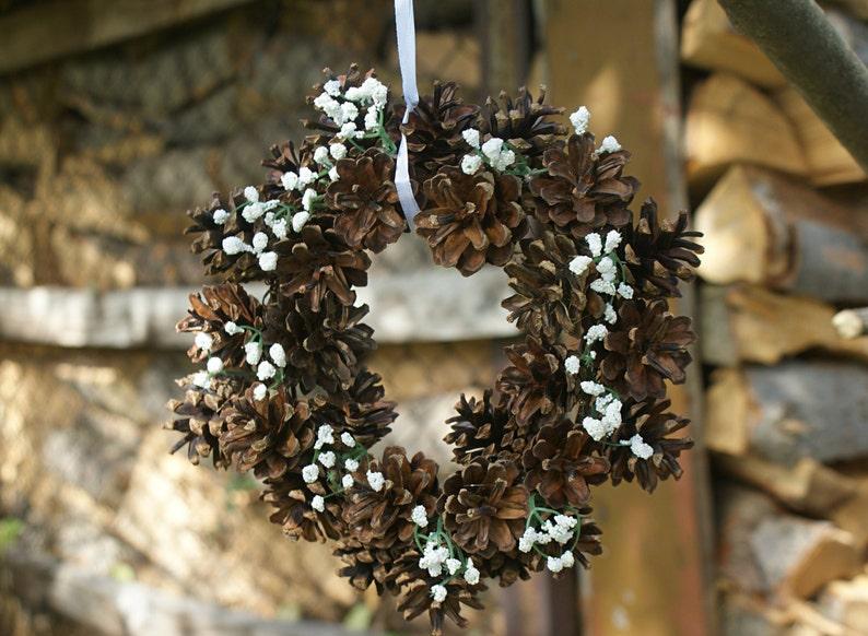 Christmas wreath Christmas decoration cones wreath rustic wreath