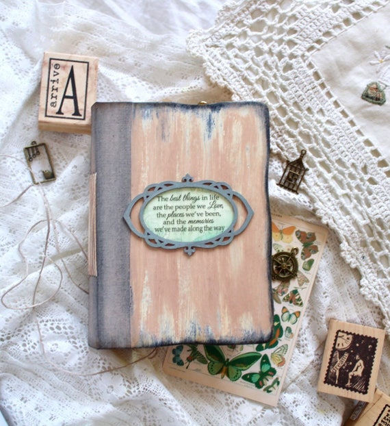 Personalized Travel Journal Vintage Handmade Book Memory