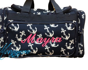 No Monogram CLEARANCE NAVY Anchor Duffel Bag b4a61cebe0c47