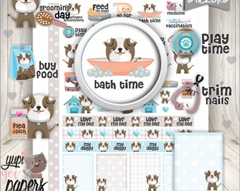 Dog Grooming Planner StickersDog Bath Pet Care Icon Functional Stickers