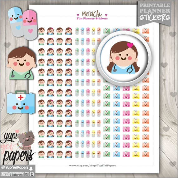 Doctor Appointment Planner Stickers Erin Condren Medical,Medical Tools S297