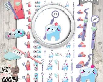 Dentist Stickers, Planner Stickers, Dentist Planner Stickers, Dental Care Stickers, Planner Accessories, Tooth Stickers, Digital Stickers