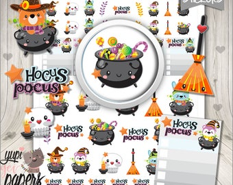 Halloween Stickers, Printable Planner Stickers, Kawaii Stickers, Planner Accessories, Planner Stickers, Digital Stickers, Cute Stickers